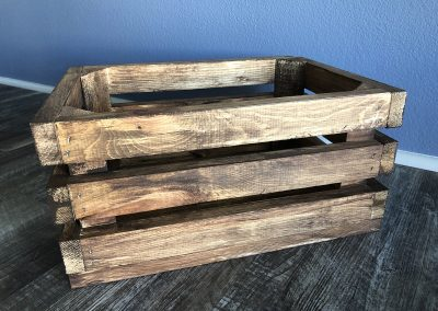 Stained Wood Crates